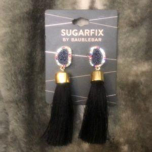 Sugarfix by Baublebar Black Tassel Earrings
